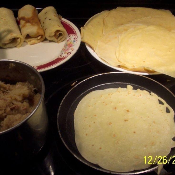 Fried Cabbage Crepes Croquetta Polish recipe