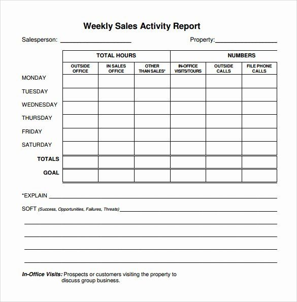 Weekly Sales Report Template Inspirational 22 Sample Weekly Report Templates Docs Pdf Word Pages In 2021 Sales Report Template Report Template Project Status Report