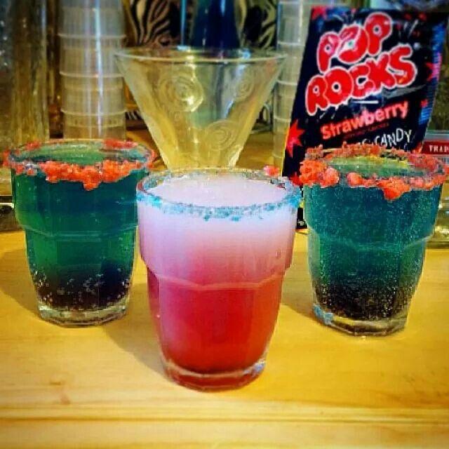 4th of July Poprocks Martini