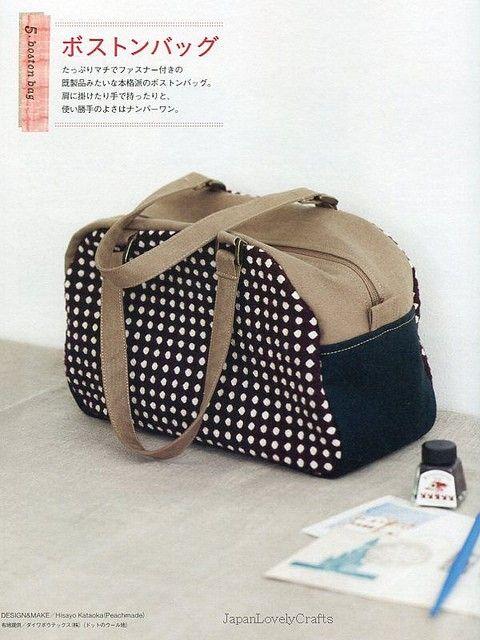 Daily Casual Bag Patterns Japanese Sewing por JapanLovelyCrafts