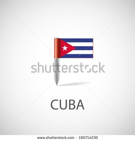 cuba flag pin