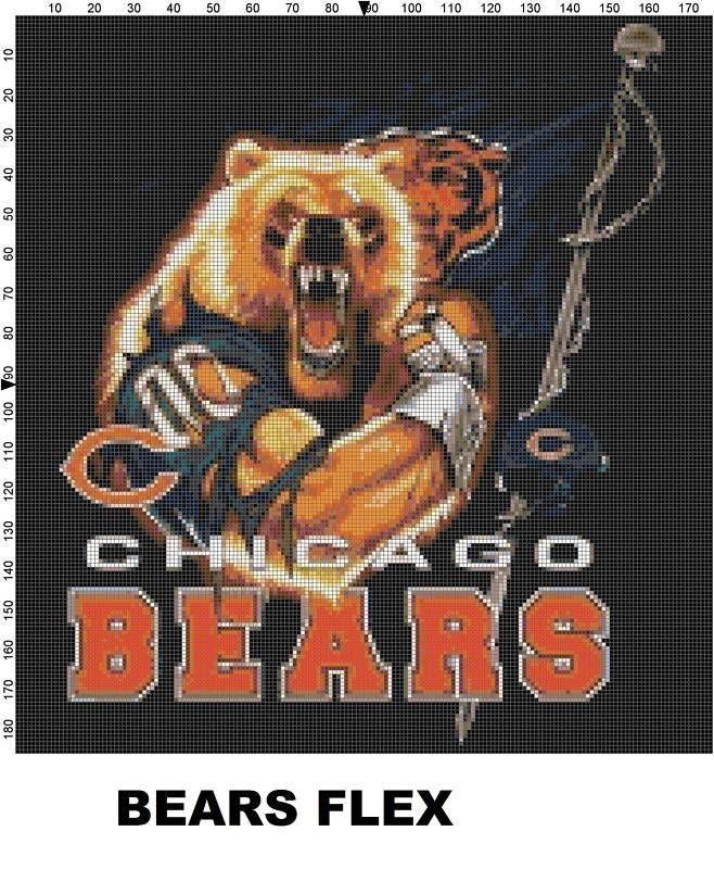 NFL Chicago Bears Mascot cross stitch pattern #computergenerated