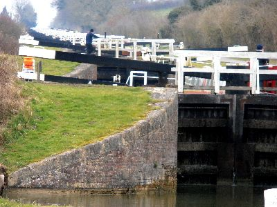 29 locks at Caen Hill in Devizes.