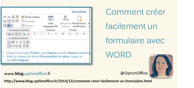 Comment créer facilement un formulaire avec le logiciel de traitement de texte Word.