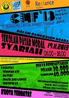 Sekolah Pasar Modal Syariah   Fakultas Ekonomi Universitas Jember