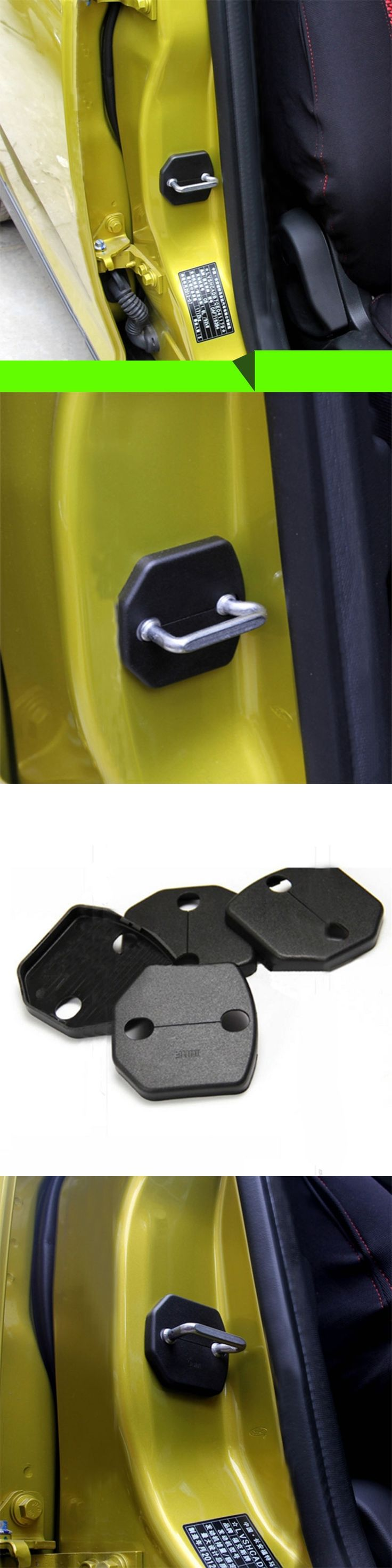 4 Pcs/Set ABS Car Door Lock Protective Cover Door Lock Buckle Case for Ford Focus 3 4 MK3 ST RS Kuga Escape Fiesta 2012 - 2016