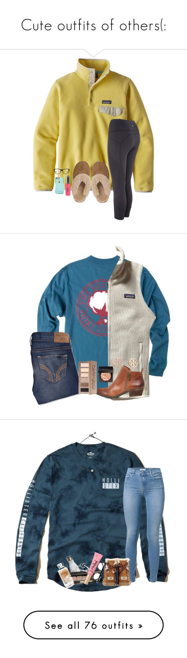 """""""Cute outfits of others(:"""" by arieannahicks ❤ liked on Polyvore featuring Patagonia, UGG Australia, Revlon, OtterBox, Ralph Lauren, Hollister Co., Tory Burch, Laura Mercier, Urban Decay and beauty"""