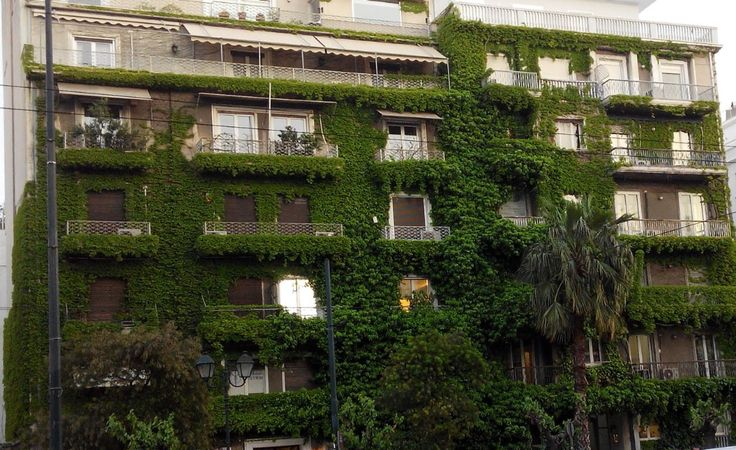 An unusual building in Athens