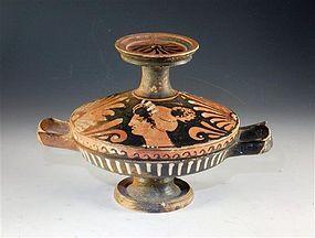 Ancient Sicilian Pottery Lekanis , Magna Graecia