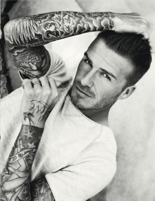 David Beckham the only man who still looks classy covered in tattoos