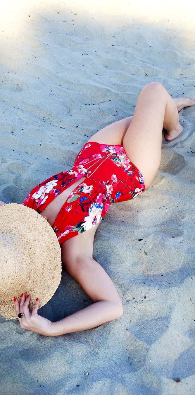 MADE TO ORDER: Take The Plunge Halter One Piece Retro Swimsuit