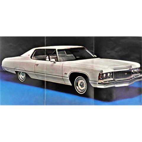 Anuncio-Catálogo original de agencia del Chevrolet Impala modelo 1975, uno de los autos más largos de la historia de la Chevrolet, y sin duda uno de los más bellos. Surgió a partir de 1958 y aún sigue produciéndose hasta el día de hoy (un modelo que ya no es comercializado en México). Su nombre proviene del antílope africano del mismo apelativo. A partir de 1965 se convirtió en el auto más vendido en su categoría tan sólo en Estados Unidos. $200.00 pesos…
