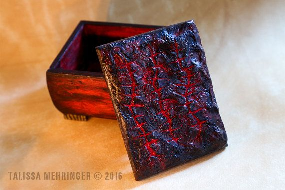 Unique Horror Jewelry Trinket Keepsake Box by TalissaMehringer