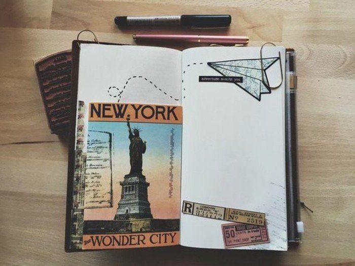Comment faire un carnet de voyage?, New York, Statue de la Liberté
