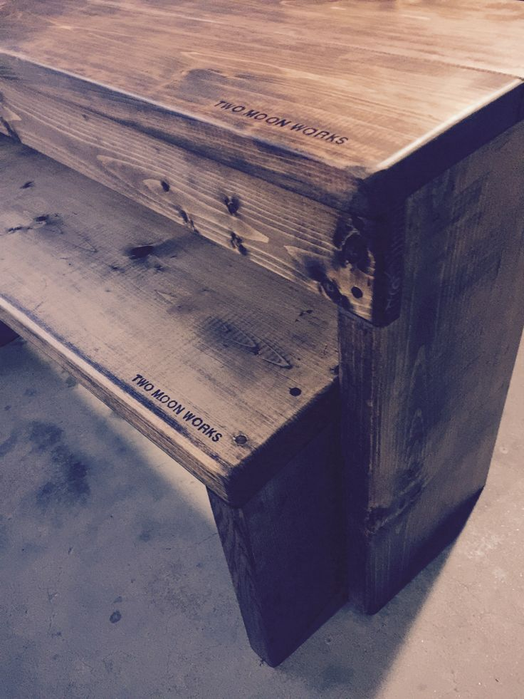 自作 子供用 ダイニングベンチ 踏み台 パイン材 檜材 ダークウォルナット オイルフィニッシュ