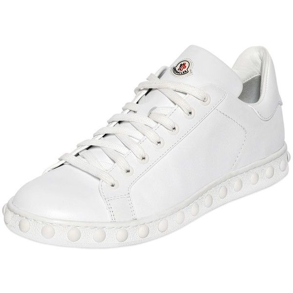 Moncler Women Fifi Leather Sneakers ($495) ❤ liked on Polyvore featuring  shoes, sneakers