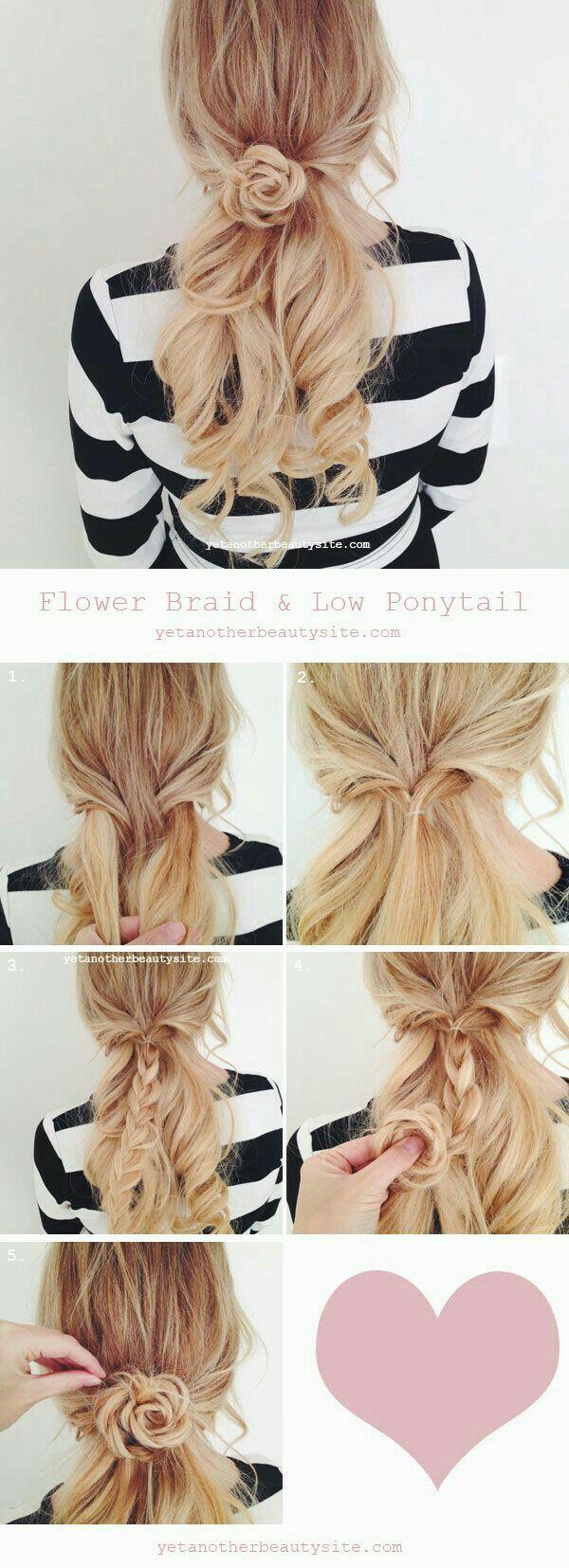 Peinado fácil, sencillo y rápido.  Flor sencilla
