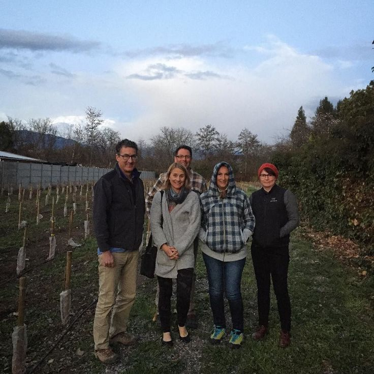 Wine Camp group visits @flahertywines in San Felipe -- over Ed's left shoulder high in the Andes is @skiarpa (terrific meal Jen!) Folks:  get out to San Felipe -- @movichile does visits!