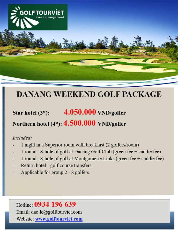 DA NANG WEEKEND GOLF PACKAGE