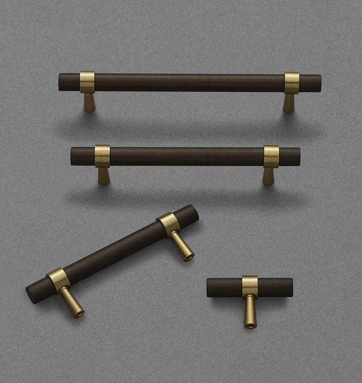 Harlow Drawer Pull - 3in. Satin Brass and Oil-Rubbed Bronze