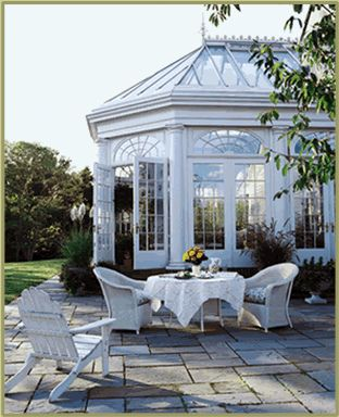 classic conservatory w/ Doric columns by Tanglewood Conservatories, via Flickr