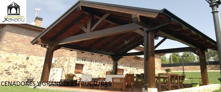Realizamos todo tipo de estructuras para jardines y ticos - Pergolas para aticos ...
