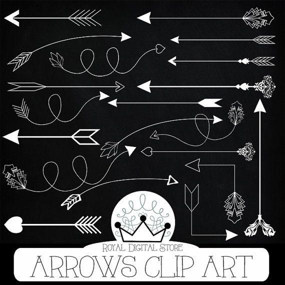 "Arrows clip art: "" ARROWS CLIP ART"" with arrows clipart, hand drawn arrows, digital arrow, chalk arrow clipart + 3 Free chalkboard papers"