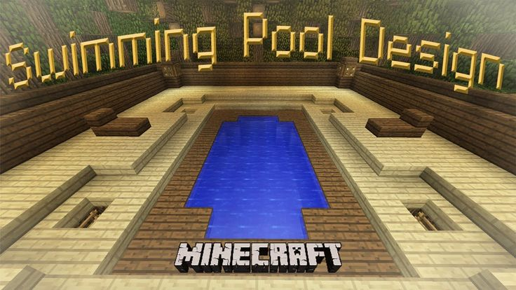 Minecraft How To Make A Cool Swimming Pool Design Minecraft Building Pinterest Swimming