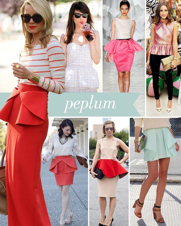 Peplum: Peplum Tops, Fashion Forward, Peplum Trends, Skirts Peplum, Peplum Style, Trends Fashion Dresses Tops, New Clothing Trends, Peplum Skirts, Red Skirts