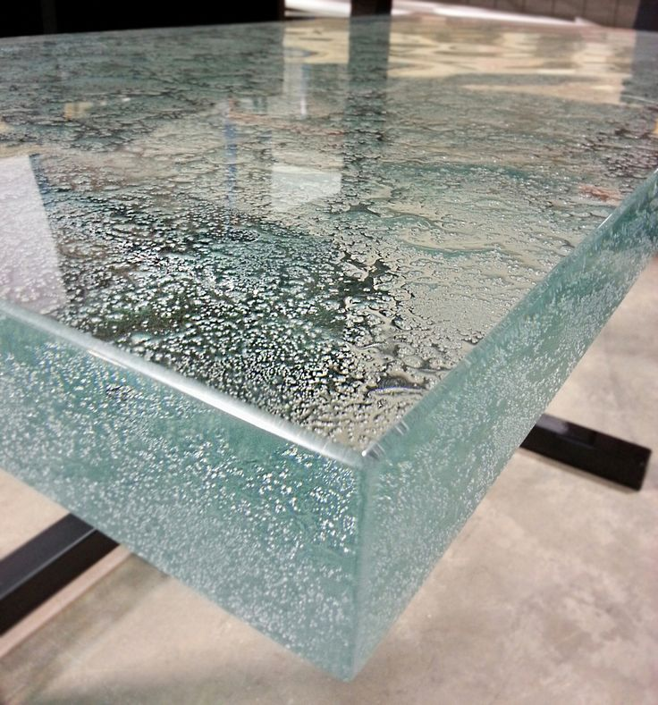 This 2 ultra clear glass countertop is cast with our new