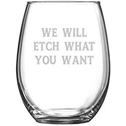 Personalized 21 oz Stemless Wine Glasses - Bridesmaid Gifts - Set of 6