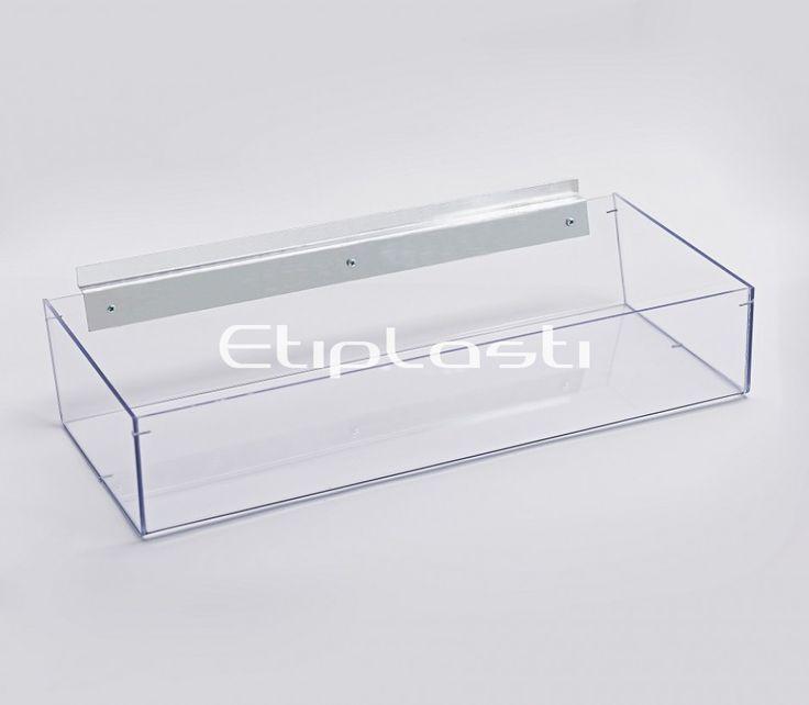 Bandeja ou caixa expositora para painel canaletado.