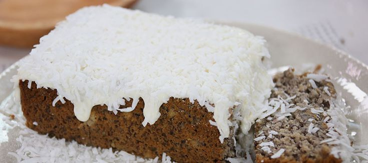 Clodagh's banana cake with coconut frosting