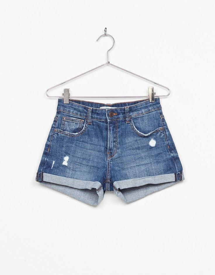 Shorts denim risvolto - Shorts - Bershka Italy