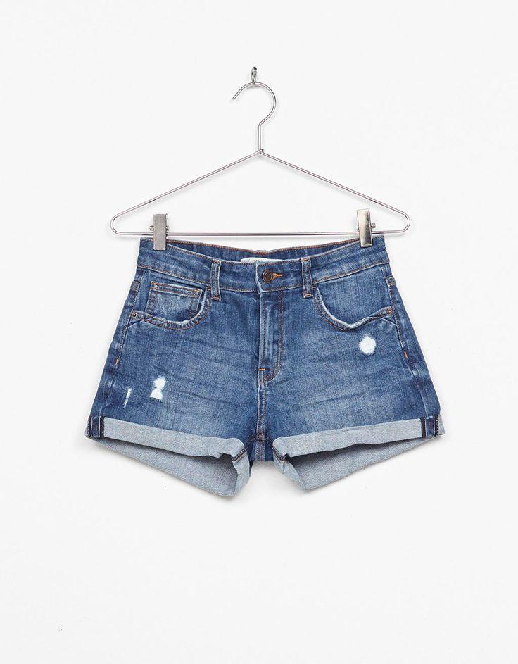 Shorts denim risvolto - Shorts - Bershka Italy