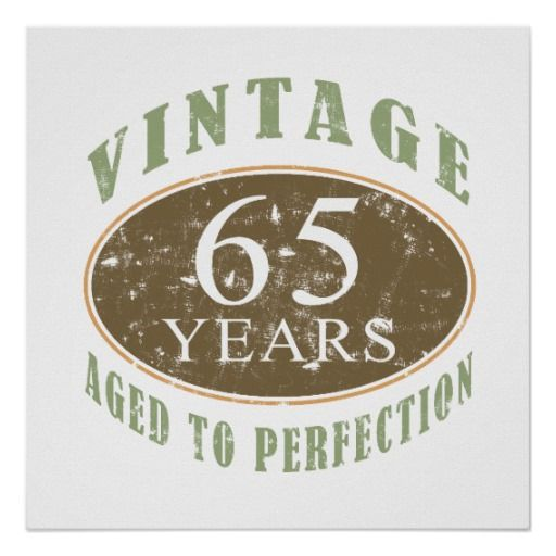 Vintage 65ste Verjaardag