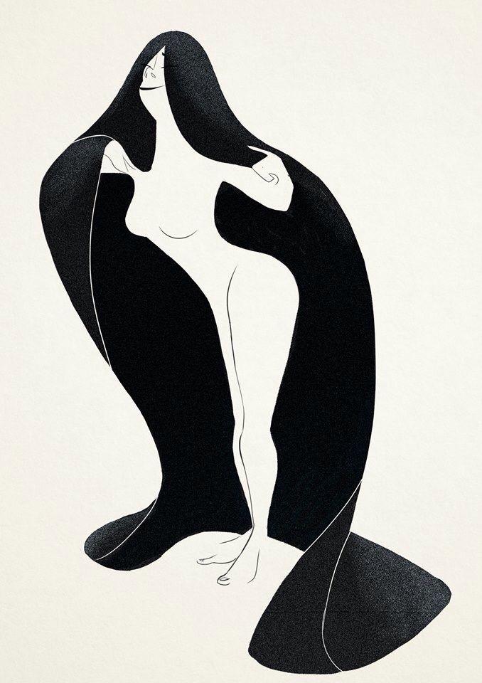 New #illustration #girl https://www.facebook.com/artofval Valentina Millosevich - Art of Val