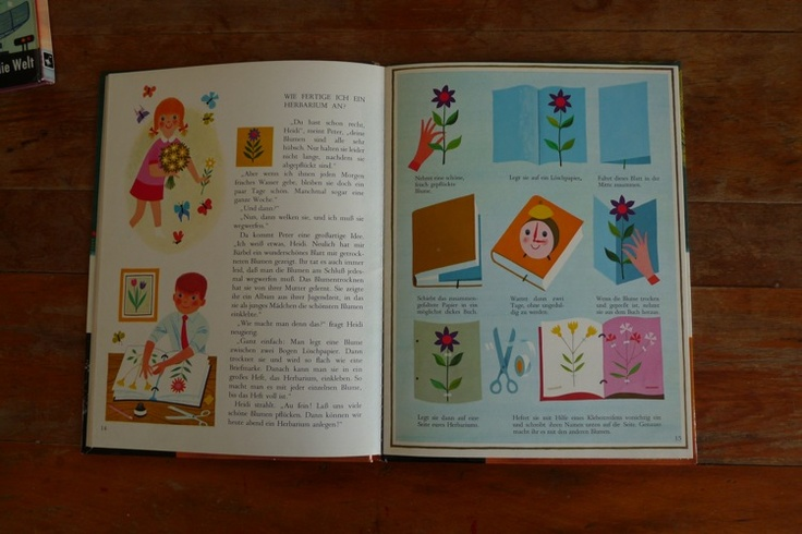 """Pictures from the picture children reading book """"Heidi und Peter / Wald""""     illustrations by: Alain Gree"""