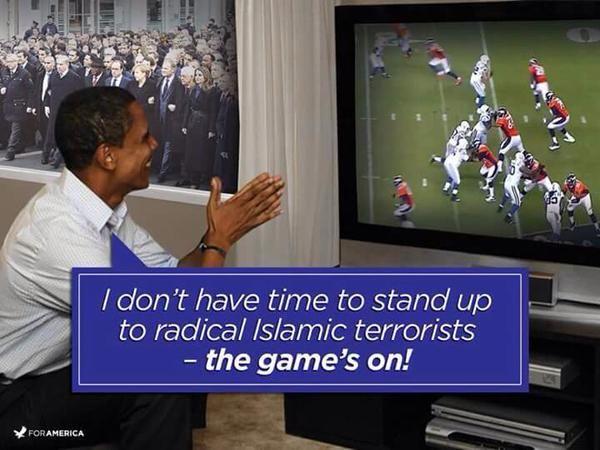 No time for presidential duties, leadership, it is football season..