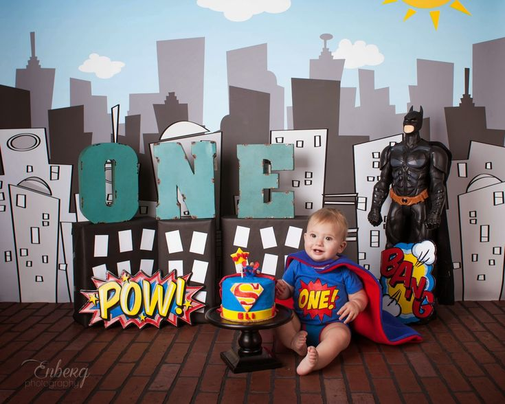Superhero Smash Cake Enberg Photography