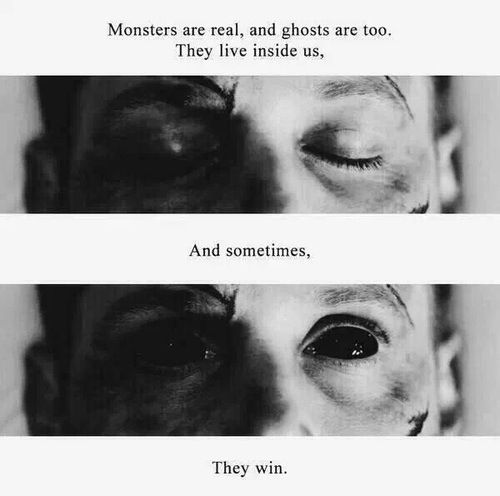 """Monsters are real, and ghosts are too. They live inside us, and sometimes, they win."" #Supernatural #DeanWinchester #StephenKing"