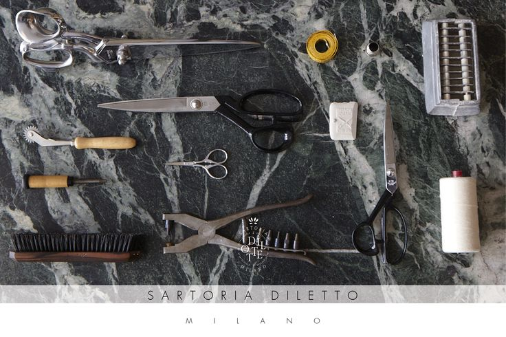 Tools: these are the tools which simbolize the highest sartorial expression, the ones who help us everyday doing what we do, something a tailor cherishes with jelousy and passion, the same passion we put in our creations.