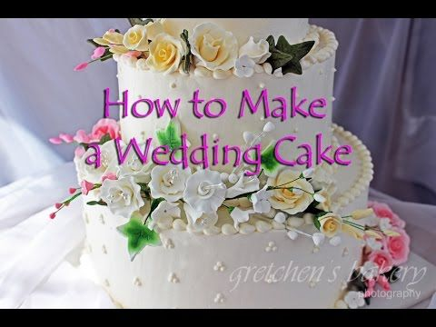 Beginners Tutorial For How To Make A Wedding Cake From Start Finish With Minimal Time Skills Tooloney Complete Handmade Fondant Flowers