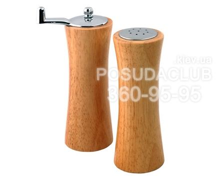 Артикул: MR-1618 Солонка и перцемолка с ручкой Maestro деревянные 2пр Цена и наличие: http://posudaclub.kiev.ua/nabory_dlya_speciy/35650-solonka-i-percemolka-sruchkojj-maestro.html