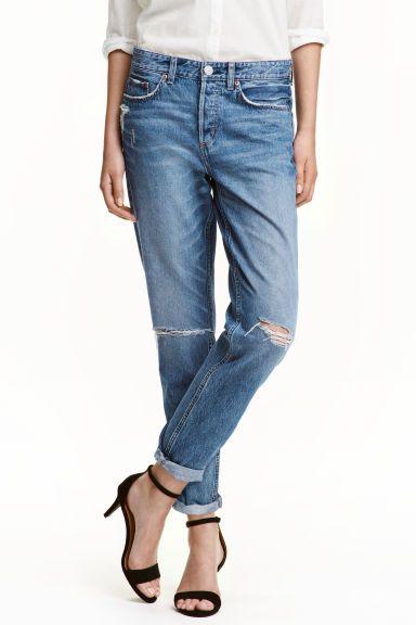 Boyfriend Low Ripped Jeans  (azul): H&M (29,99€) ✓