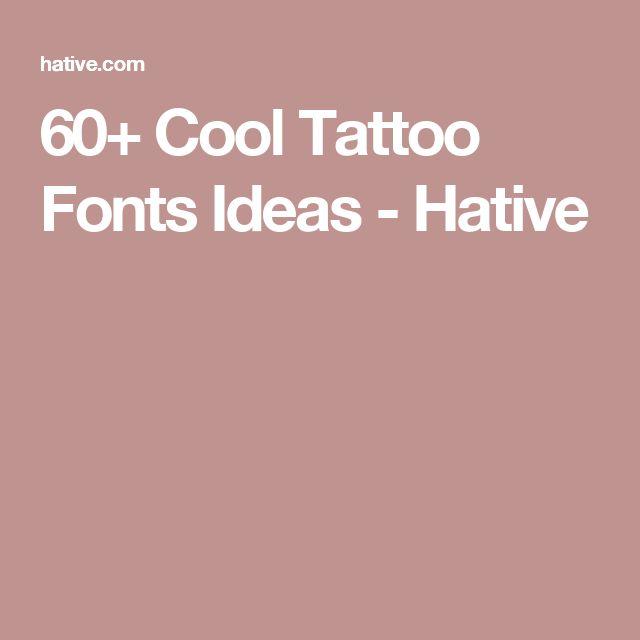 Best 25 Tattoo Lettering Generator Ideas On Pinterest: 25+ Best Ideas About Tattoo Fonts On Pinterest