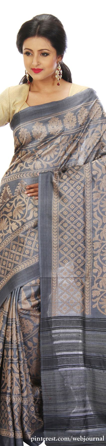 Tussar silk - Handwoven sarees from Indian silk house.