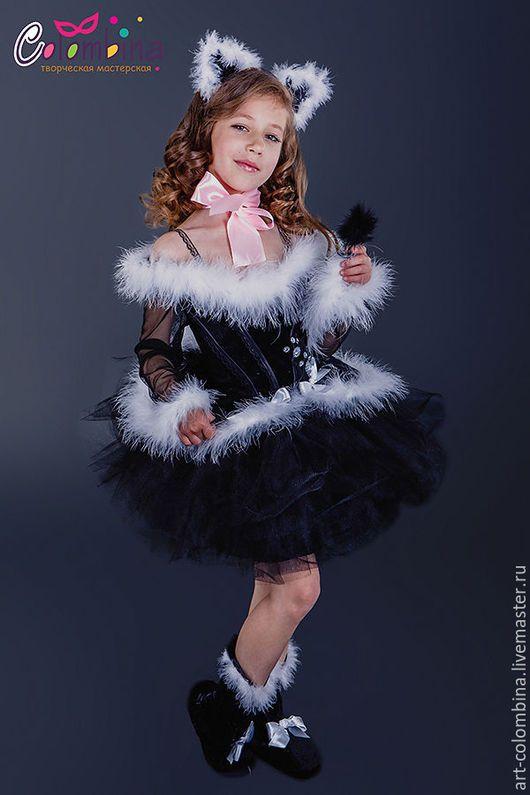 Детские карнавальные костюмы ручной работы. Ярмарка Мастеров - ручная работа. Купить Костюм кошки. Handmade. Черный, костюм кошечки