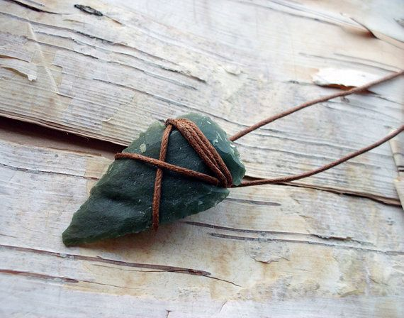 Agate Arrowhead Necklace 18 Inch Bohemian Boho Hippie Tribal Arrow Head String Wrapped Native American Inspired on Wanelo