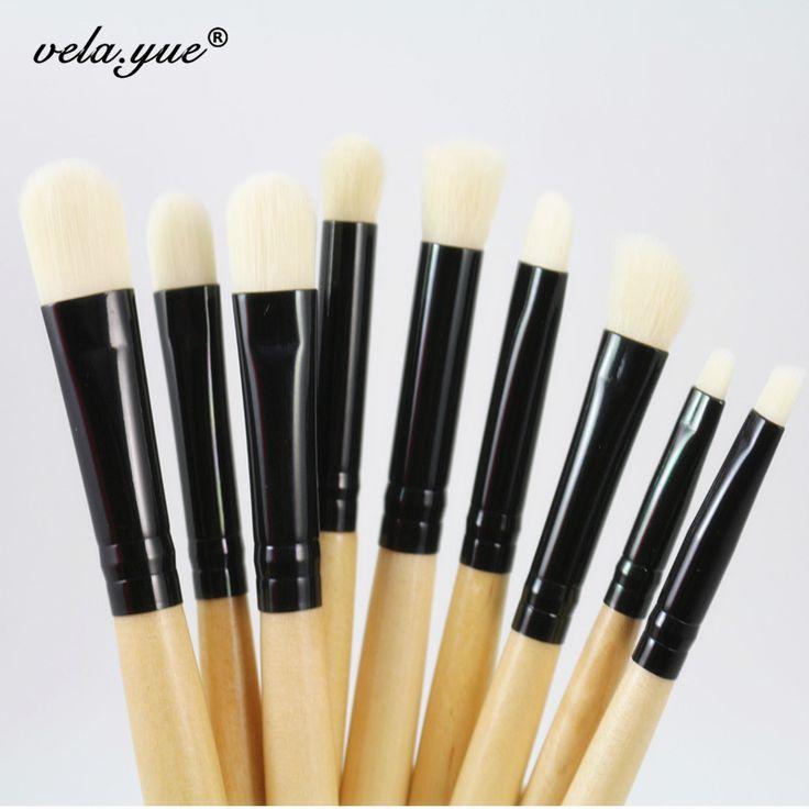 9pcs Professional Makeup Brushes Set For Eye Brushes Eyeshadow Eyeliner Eyebrow Smudge Blending Contour Eyes Makeup Tools Kit